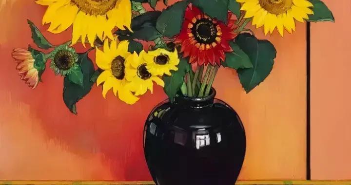 画家克里斯·坎宁画笔下的花朵,时而妖娆热烈,时而清新脱俗
