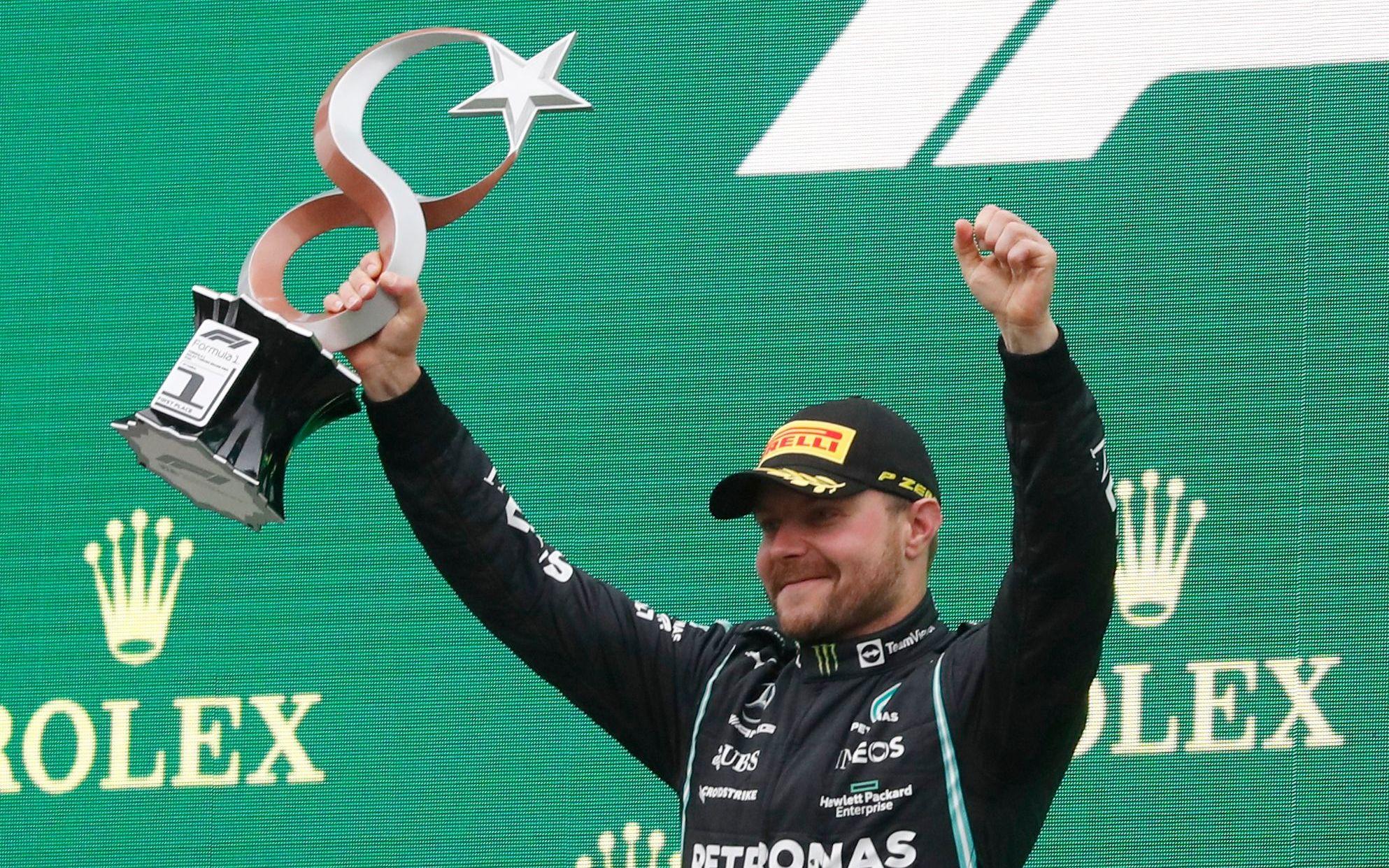 博塔斯赛季首冠 维斯塔潘反超汉密尔顿再度领跑