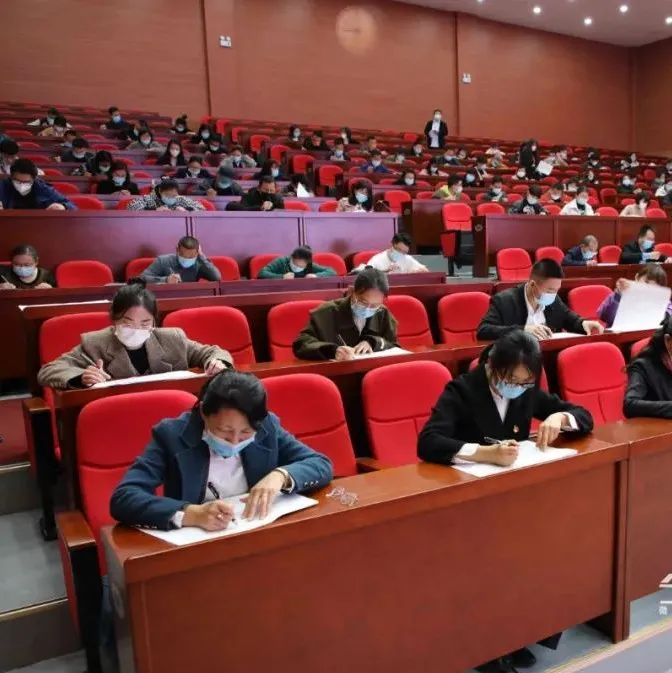 黑河450名市直单位党员干部代表参加党史学习教育知识测试