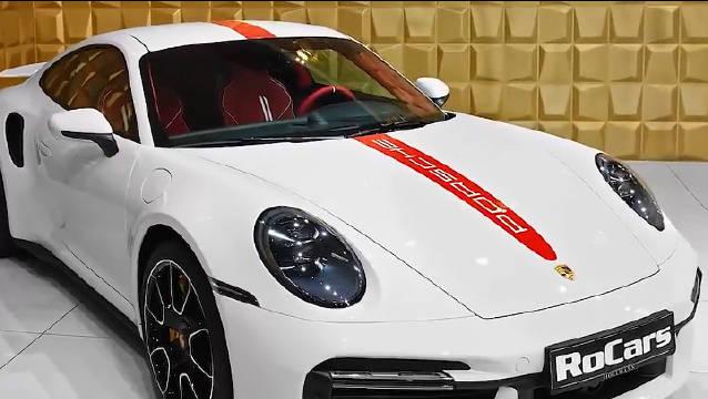 视频:保时捷 911 turbo S实车,外形是优雅运动的车身设计……