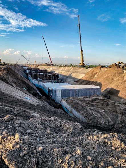 雄安新区启动区在建的地下管廊项目。摄影/《财经》记者 张寒