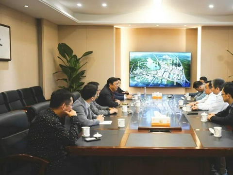 远洋集团王洪辉一行到访合肥启迪科技城