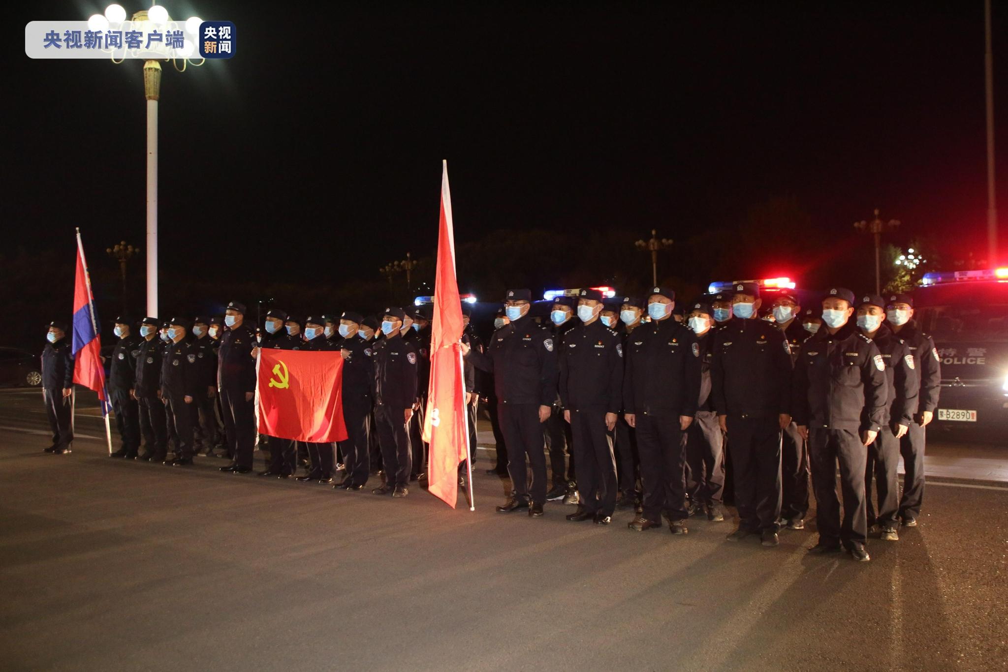 内蒙古包头多部门警力千里驰援额济纳旗