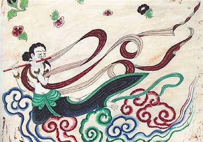 敦煌壁画服饰:千年霓裳羽衣曲