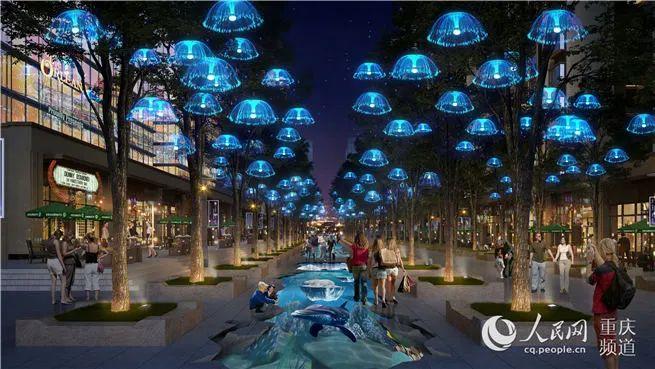 预计4月底完工,南坪商圈环境综合整治项目启动图片