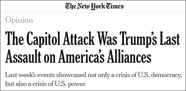 """美媒:美国陷入混乱之时 还给中俄""""送上了大礼"""""""