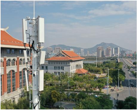 厦门电信全国首个部署5G 64TR A+P设备打造下行CA+超级上行极简站点