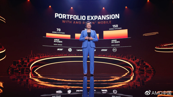 AMD发布锐龙5000系列移动处理器 终端产品Q1上市