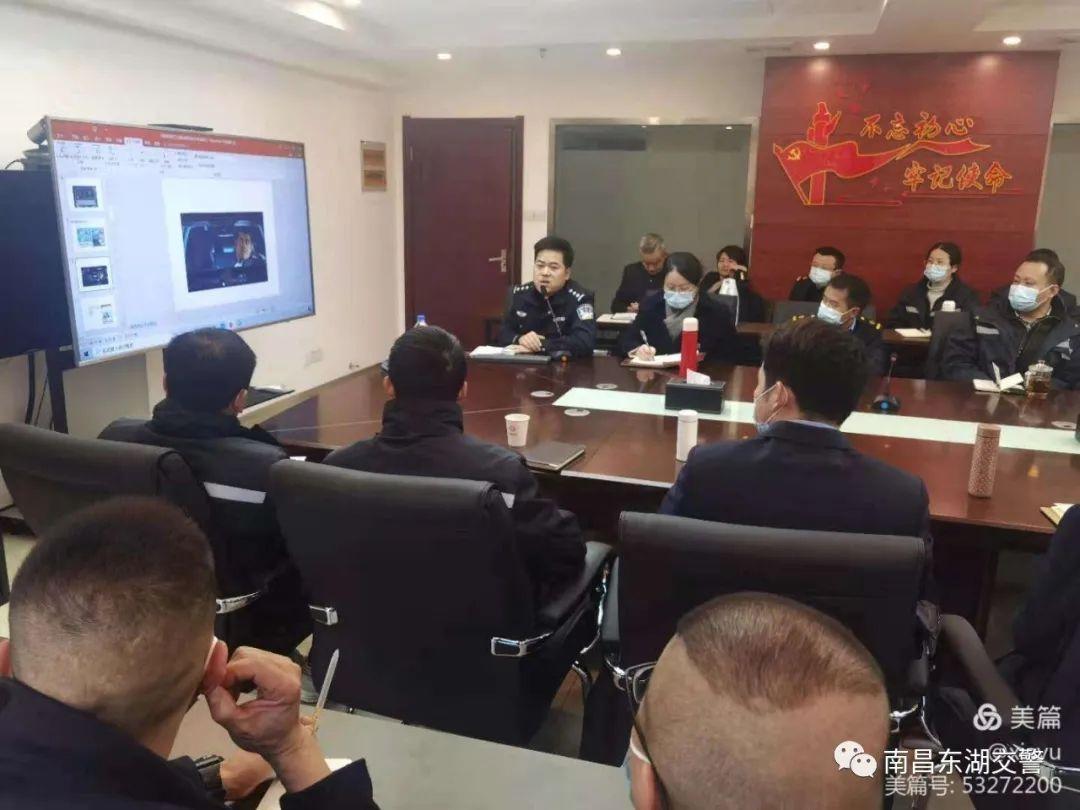 东湖交警深入中铁快运公司开展交通安全宣传