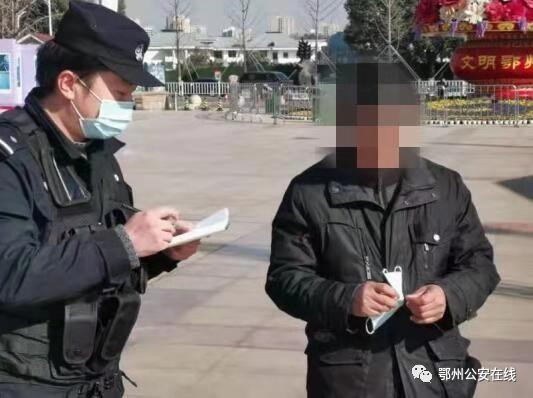 鄂州特警:巡防街面守护百姓 防控疫情零距离