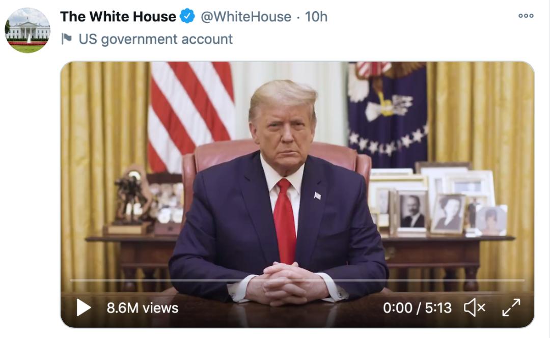 """被美国主流社交媒体""""封杀""""的特朗普"""