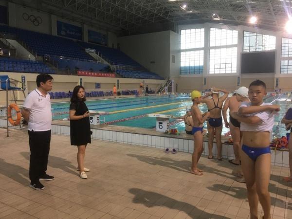渭南市体育局对市体育中心游泳馆进行安全检查