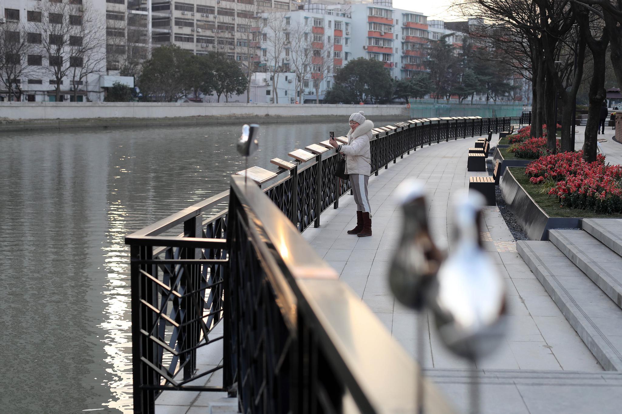天气晴好,今天的上海苏州河畔引人打卡,又一波新景观亮相了