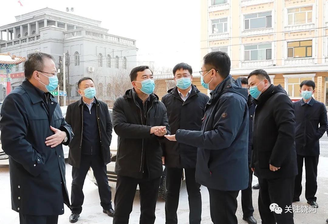 饶河县:韩雪海带队检查疫情防控工作