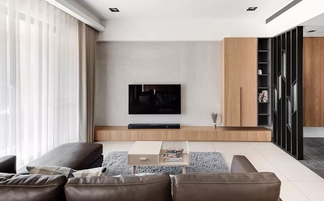 110平米现代风格三居室,预算11万,点击看效果图!