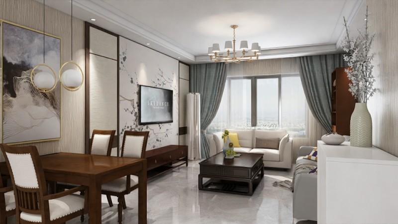 124平米三居室的新中式风格案例,只花11万!