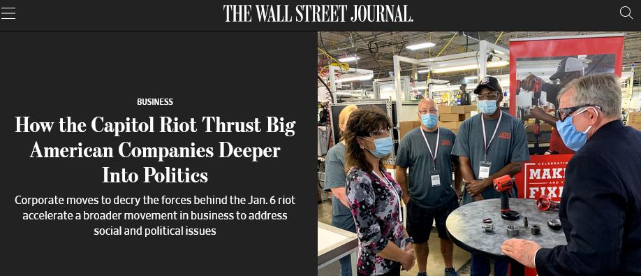 """国会骚乱后,美国大公司开始明着""""干政""""了"""