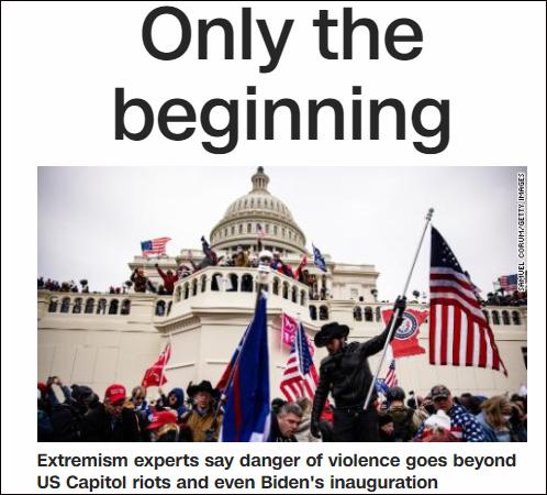 """美媒:美国正进入""""混乱状态"""",国会骚乱只是个开始"""
