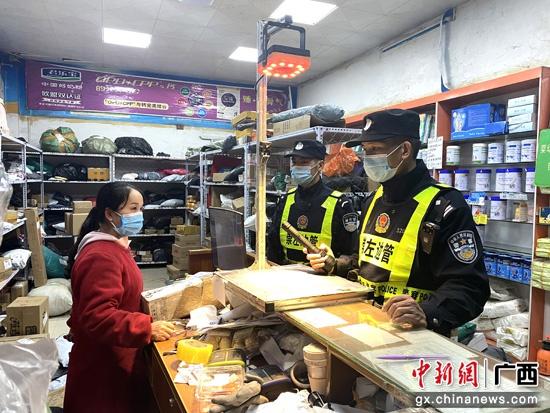 广西宁明开展边境治安清查 落实防疫措施
