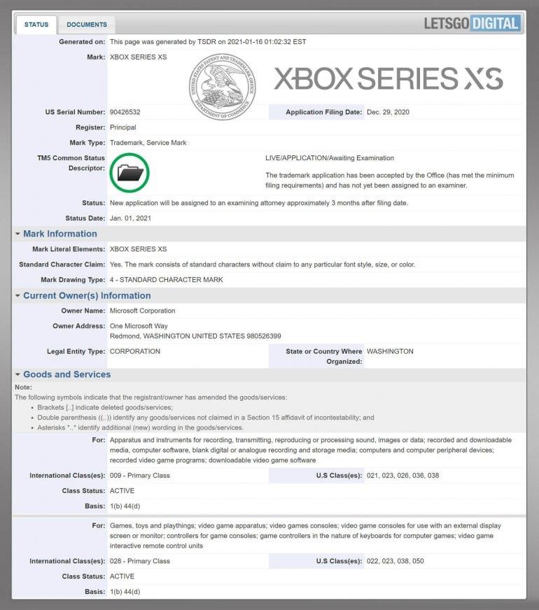 外媒:微软注册 Xbox Series XS 商标,暗示微软将推出第三款主机