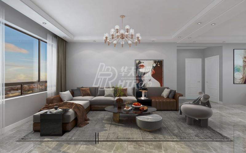 96平米二居室仅12万,太超值了!现代风格老婆最爱!
