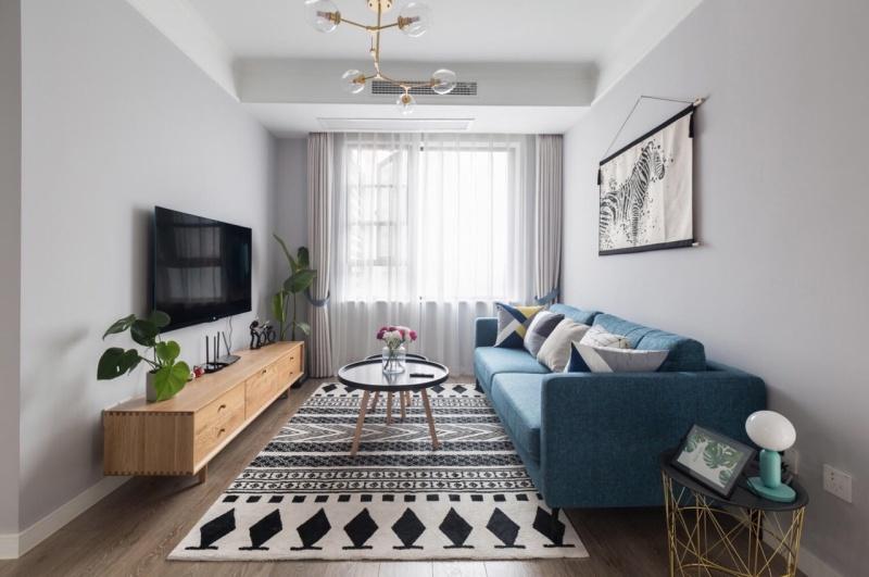 84平米的二居室装修只花了10万,现代风格让人眼前一亮!
