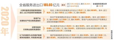 海南去年新兴服务贸易进出口额同比增长1.1倍