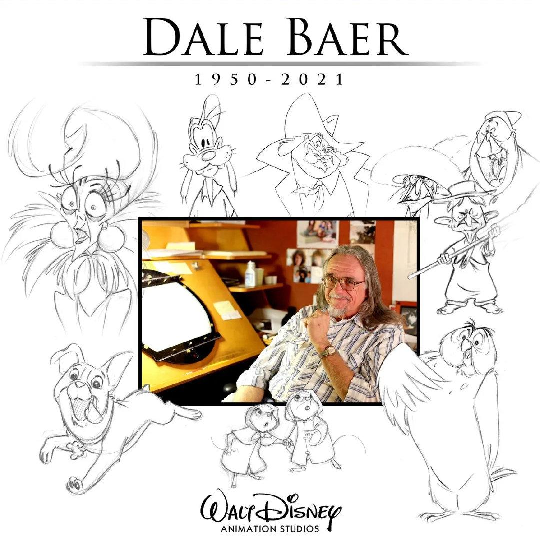 动画师戴尔·拜尔去世,曾参与创作《狮子王》等