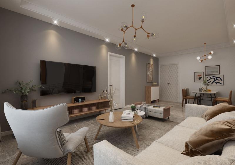 100平米二居室仅12万,太超值了!现代风格老婆最爱!