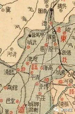老地图里的武城县历史沿革