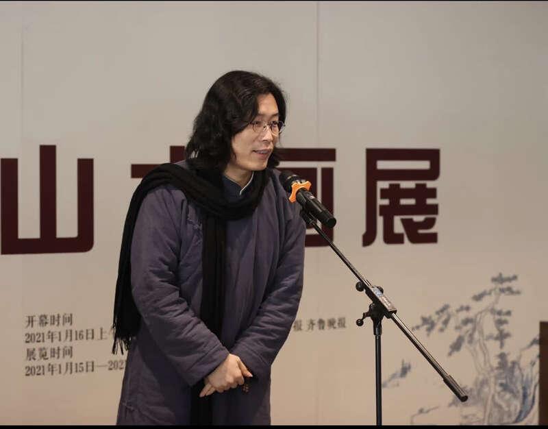 """""""坐看云起时——刘明杰山水画展""""开幕"""