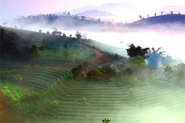 营盘山云雾飘渺,美如仙女入墨化丹青