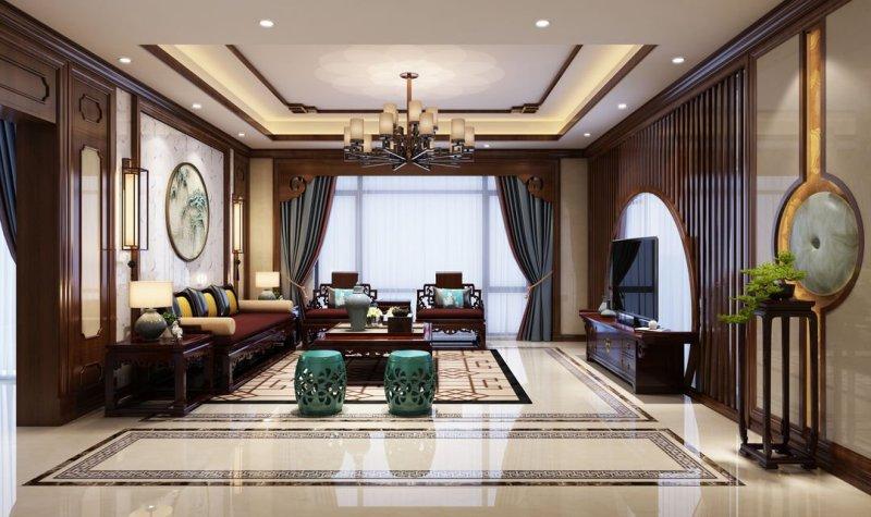 四居室的中式风装修大概需要多少钱?这套135平米的装修案例值得借鉴!