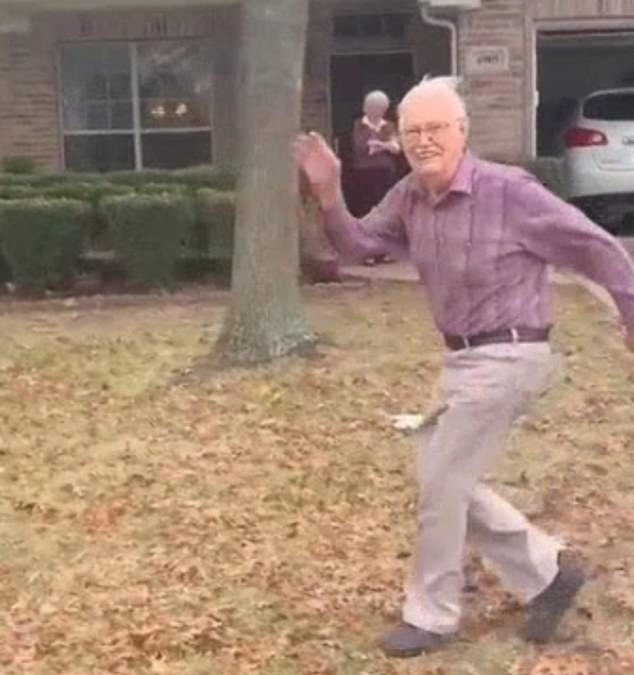 美女子分享感人视频 祖父慢跑着挥手告别