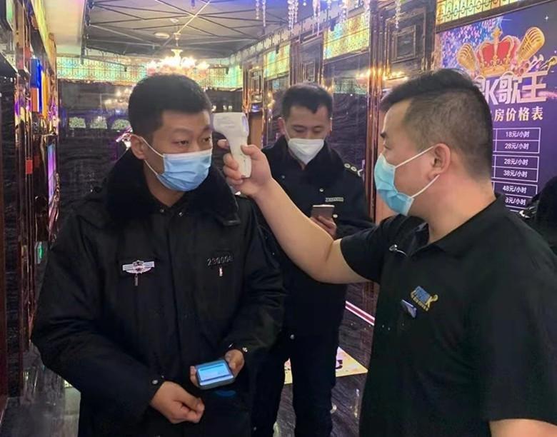 市文化市场综合行政执法支队对娱乐场所开展疫情防控夜间突击检查