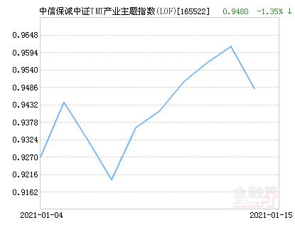 中信保诚中证TMT产业主题指数(LOF)净值下跌1.35% 请保持关注
