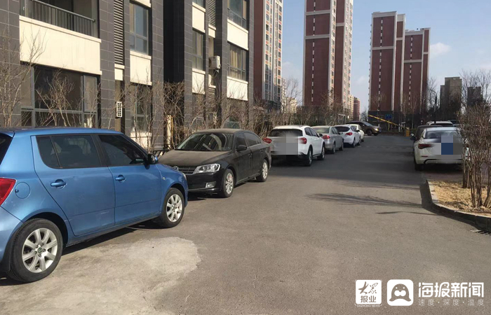 东营胜宏魅力熙郡业主车辆占用消防车道存安全隐患