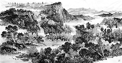 春山和风(山水画)