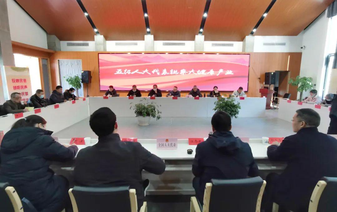 李元涛率队视察大健康产业代表联络工作站