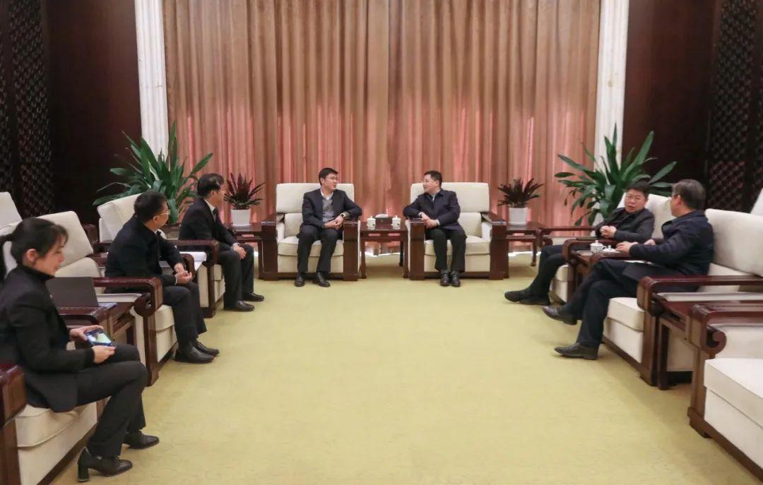 郭峰、杨秀福会见工商银行上饶分行行长鄢毅