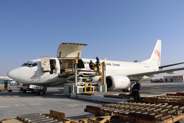 呼和浩特白塔国际机场开通呼和浩特至天津牛羊肉全货机航线