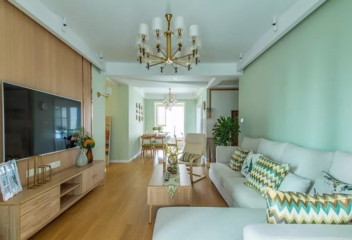 124平米的三居室,质感与时尚并存的北欧风装修。