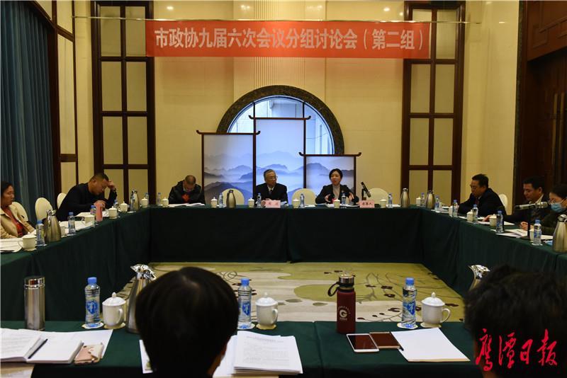 政协委员分组学习讨论鹰潭市委书记郭安讲话 审议市政协常委会工作报告和提案工作报告