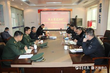 """日照海警局东港工作站持续推进""""海上雷霆2021""""专项执法行动"""
