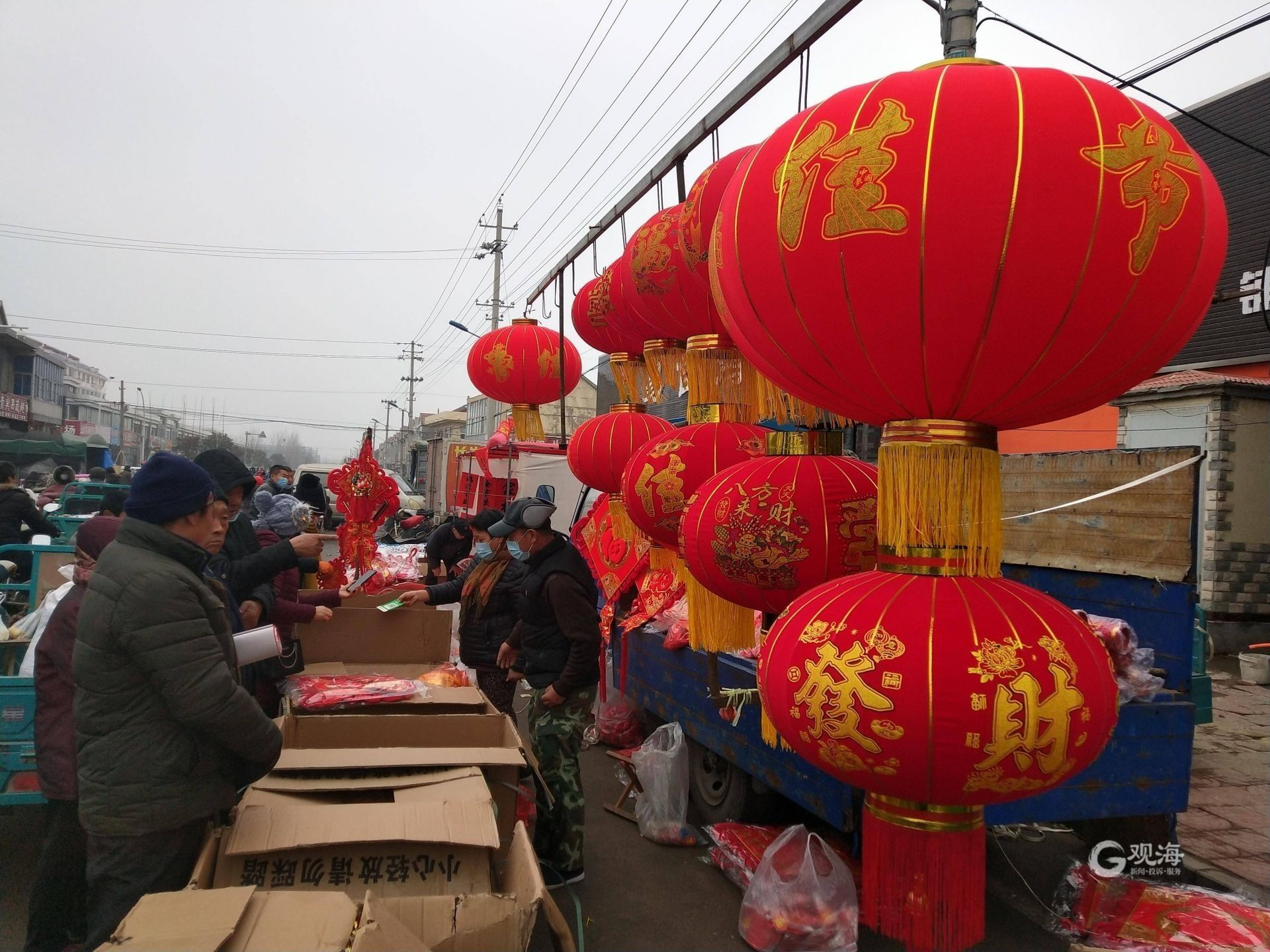 """三地乡民来赶集, 胶州西南乡最大农村大集年前""""火""""了"""
