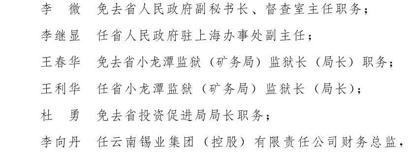 云南省人民政府发布一批任免职通知图片
