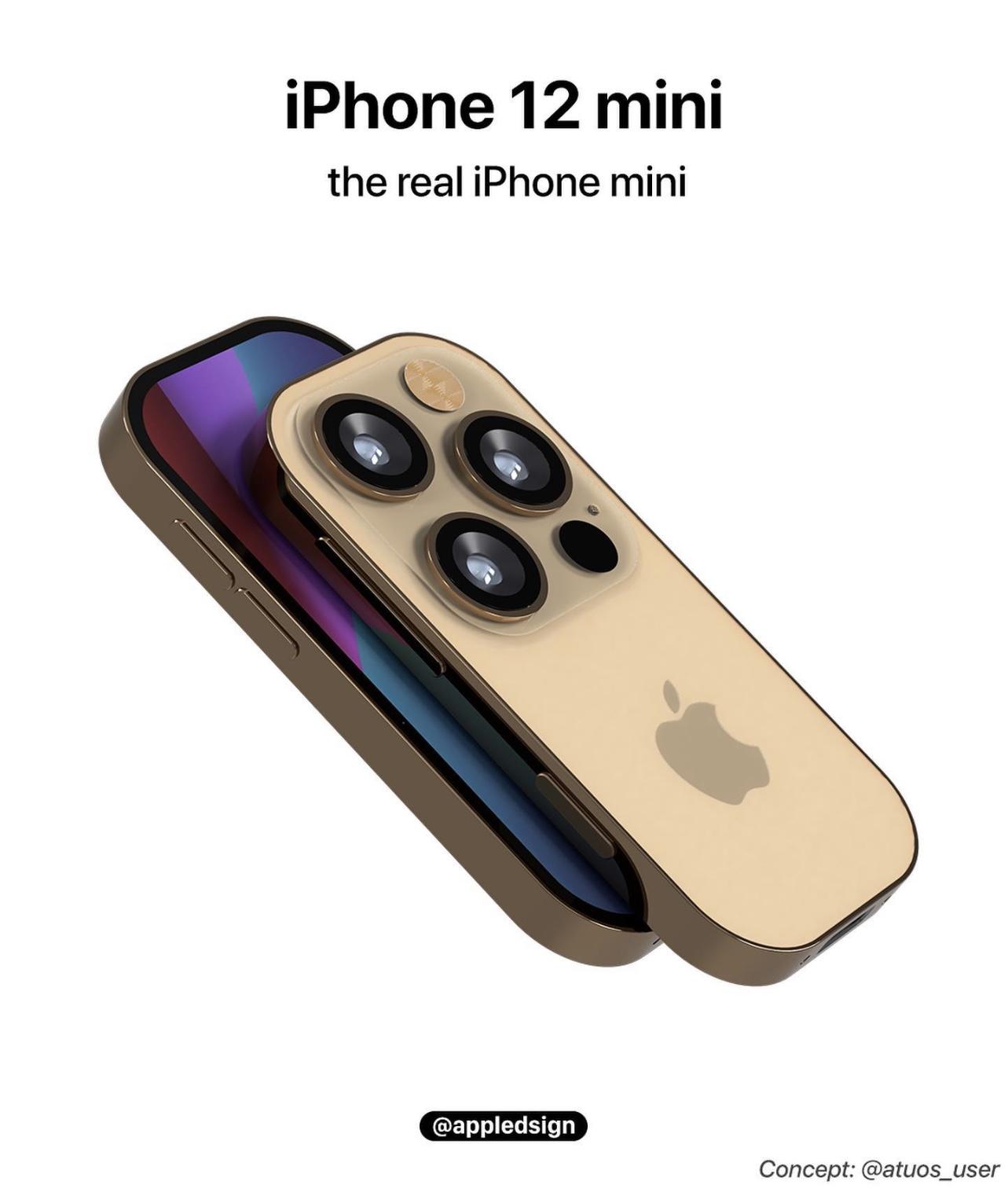 iPhone 12 Mini概念渲染图曝光:采用超小机身设计