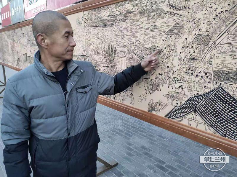 武威民间木刻师耗时4年完成19米长木刻版《清明上河图》