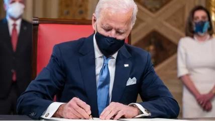 拜登首签行政令:重返巴黎气候协定和世卫组织