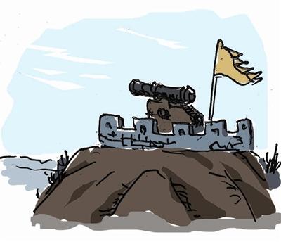 古炮台的缺憾(图)